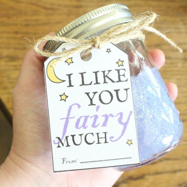 sparkly jar of fairy glitter slime