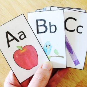 Alphabet Game Go Fish for teaching ABCs
