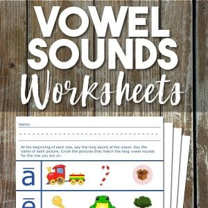 phonics worksheets: vowel sounds promo